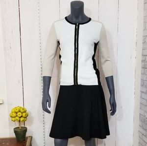 White House/Black Market color block cardigan XS